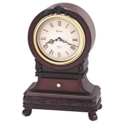 Bulova B1984 Knollwood Clock, Antique Mahogany Finish