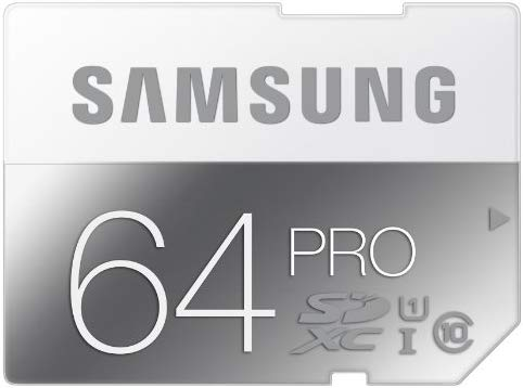 Samsung Pro - Tarjeta de Memoria SDXC de 64 GB (UHS-I, Clase 10, 90 MB/s)