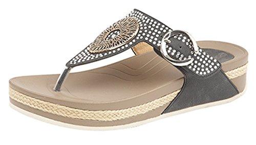 Sandalias para Material de Boulevard de Sintético mujer vestir negro HpFT6