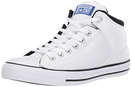 Converse Men's Unisex Chuck Taylor All Star Street High Top Sneaker, White/Blue/Black 11 M US