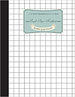 graph notebook 1 2 inch squares blank quad ruled 120 pages large