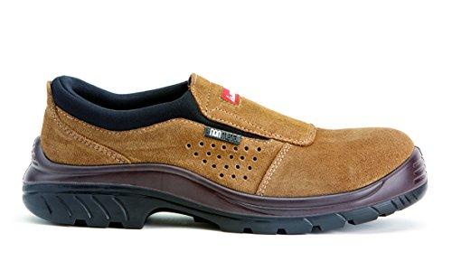 Bellota nonme Vallée S1P Chaussures sans lacets,Marron foncé (Gamma non metal)Taille 43