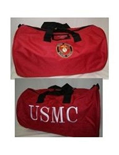 Embroidered Red USMC Marine Corps Marines Utility Duffle Sports Travel Bag by Novelty Stores -