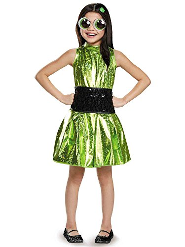 [Buttercup Deluxe Powerpuff Girls Cartoon Network Costume, Medium/7-8] (Powerpuff Girls Halloween Costumes)