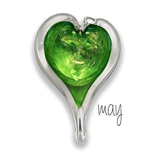 (Luke Adams Glass Small Heart May Birthstone)