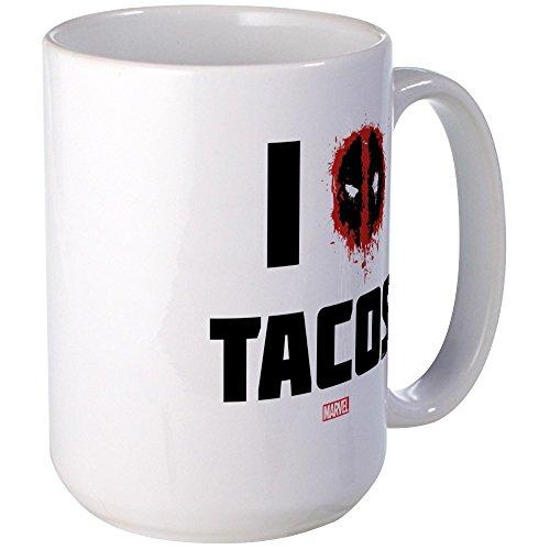 CafePress Deadpool Tacos Large Mug Coffee Mug, Large for sale  Delivered anywhere in USA