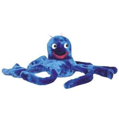 Kyjen PP01001 Oakley The Octopus Dog Toys Plush Squeak Flappy Dog Toy, Large, Blue