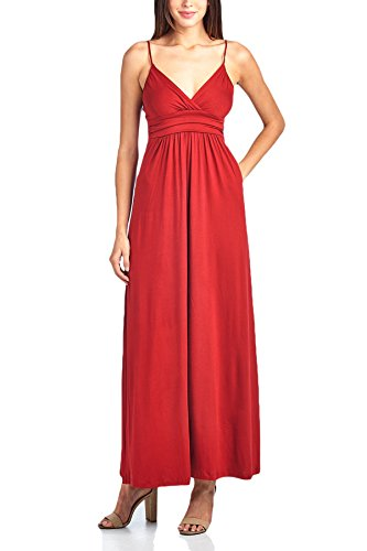 Women's Beachcoco Red Dress Sweetheart Maxi vn7gT