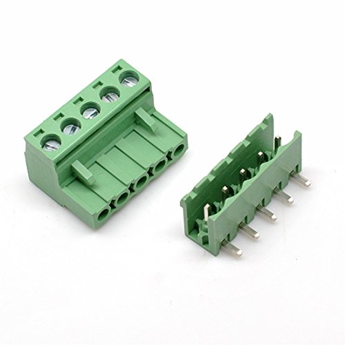 Block Right - Willwin 10 Set 5.08 mm Pitch Right Angle 5pin PCB Pluggable Terminal Block Connectors