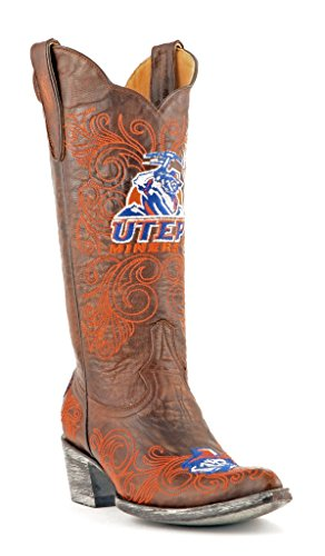 Ncaa Texas El Paso Gruvearbeidere Womens 13-tommers Gameday Støvler Messing