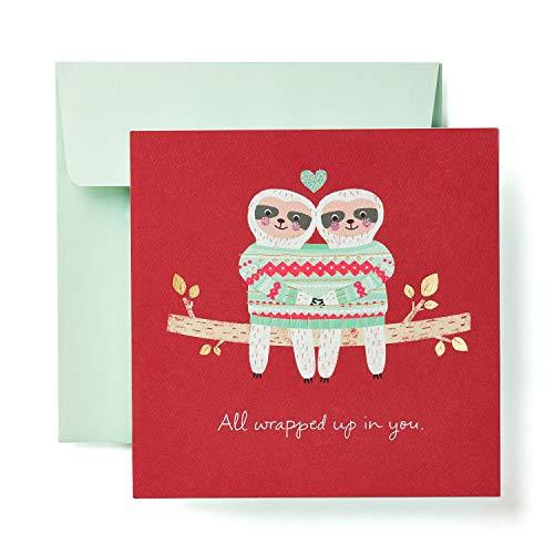 American Greetings Romantic Christmas Card (Sloths) (Christmas Boyfriend For Greetings)