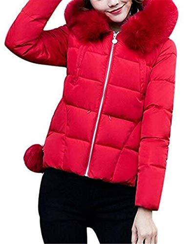 Winter Di Slim Lunga Pelliccia Rot Fit Down Addensare Cappotto Women Esterno Con Fashion Jacket Cappuccio Per Warm Quilted Manica Saoye n7IYBI