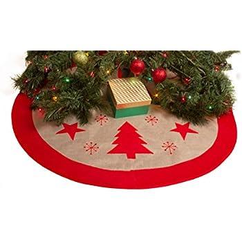 Amazon.com: Peanut Snoopy Christmas Green Tree Skirt ~ 48 Inches ...