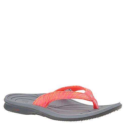 New Balance Women's Cush+ Heathered Thong Flip-Flop, Grey/Pink, 9 B US