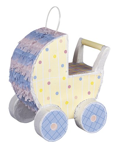 Mini Baby Carriage Decorative Pinata]()