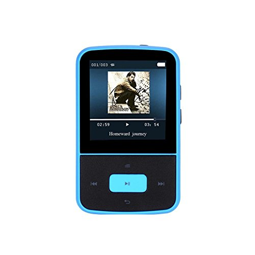 AGPtEK G05 8GB Portable Clip Mp3 Player with FM Radio/24 Hours Playback/Independent Volume Control with Silicone Skin Case Cover, Black