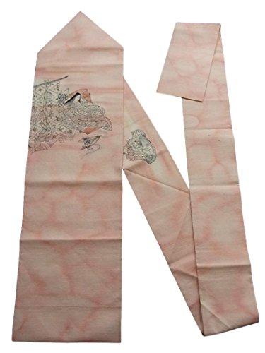 文字統治可能相手リサイクル 名古屋帯 紬 几帳に平安美女 正絹