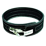 Flexz Fitness Lever Buckle Powerlifting Belt 10mm Weight Lifting Black X Large