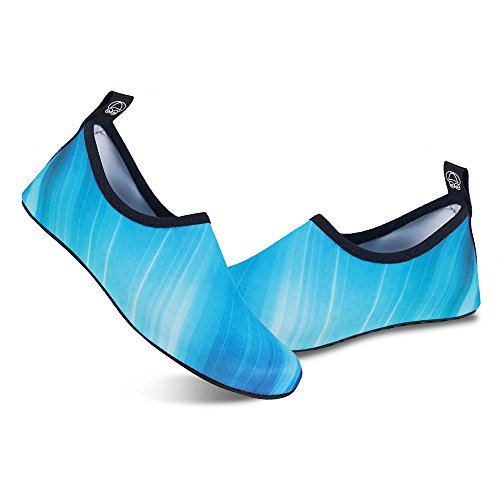 Exercise Shoes Gradient for Womens Blue Swim Dry Yoga and Socks Beach Kids Water Surf Barefoot Aqua Mens Quick wwgqR1TZ