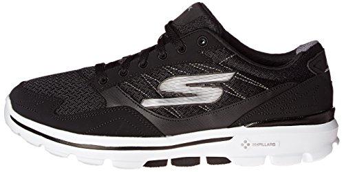 Skechers Performance Men's Go Walk 3 Compete Lace-Up Walking Shoe, Black/White, 10 M US Photo #4