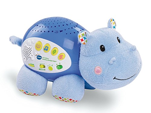 4 Different Colors & Sounds of Peaceful Tunes Hippo - Voice Activated Crib Light