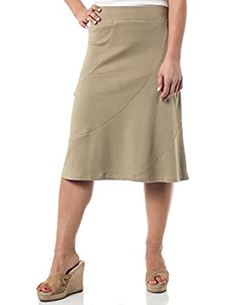 Alki'i A-Lined Mid Length Skirt with Elastic Waistband , Sponge XL
