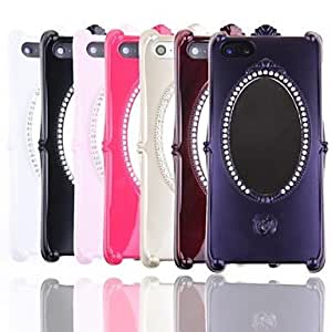 Elegant Mirror Pattern Back Case for iPhone 5/5s(Assorted Color) , Purple