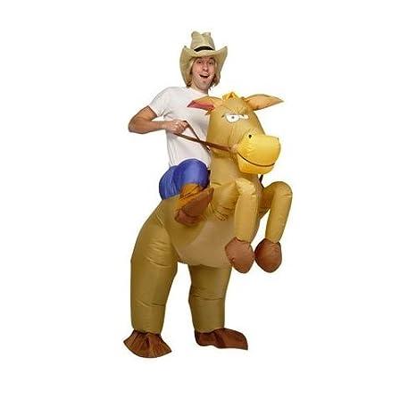 d04d78a7b AirSuits Inflatable Horse and Cowboy Fancy Costume Dress Suit: Airsuits:  Amazon.co.uk: Toys & Games