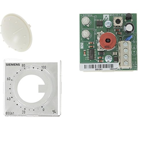 Siemens BSG61 Setpoint Dial Active Economizer Controller for Flush Panel Mounting (48 x 48 mm), 2 Adjustable Stops, Transparent Front Cover and Exchangeable Supplied with 0…100% Scale