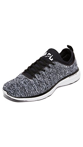 APL: Athletic Propulsion Labs Men's Techloom Phantom Running Sneakers, Black/White/Melange, 11 D(M) US
