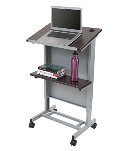 Adjustable Steel Frame (Stand Up Desk Store Mobile Adjustable Height Lectern Podium, Heavy Duty Steel Frame)