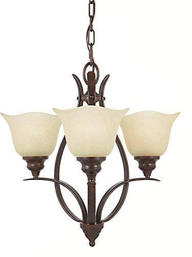 Feiss F2047/3GBZ Morningside Glass Mini Chandelier Lighting, Bronze, 3-Light (20