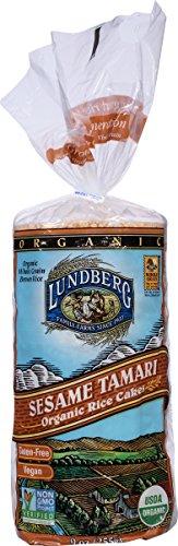 Rice Cake Brown (Lundberg Family Farms Organic Sesame Tamari Rice Cakes, 9 oz)