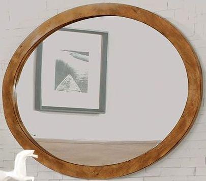 - Mid Century Oval Wall Mountable 3Mm Mirror Light Oak