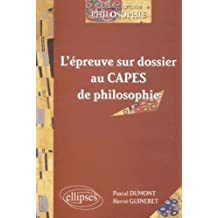 L'epreuve Sur Dossier Au Capes de Philosophie Capes/agregation Ph
