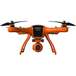 WINGSLAND 1080P Camera Live Video 3-Axis Gimbal professional Quadcopter Drone, Black/Orange, Medium