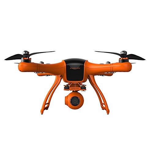 WINGSLAND 1080P Camera Live Video 3 Axis Gimbal Professional Quadcopter Drone Black Orange Medium