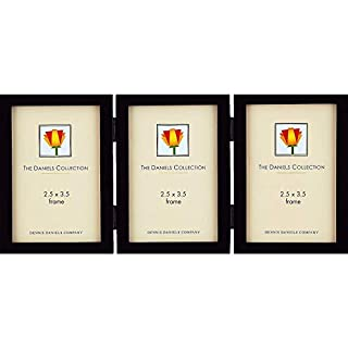 Dennis Daniels Gallery Woods Hinged Triple Vertical Picture Frames, 2.5 x 3.5 Inches, Ebony (B001VGA5V6)   Amazon price tracker / tracking, Amazon price history charts, Amazon price watches, Amazon price drop alerts
