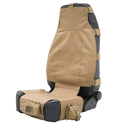 Smittybilt 5661024 GEAR Tan Front Seat Cover - Gear Seat Covers