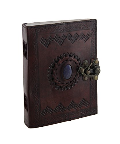 Embossed Leather Unlined Journal AzureGreen product image