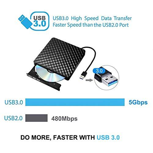 Tecnugiz External CD/DVD Drive for Laptop & MacBook, CD / DVD Player & Burner with USB 3.0 Plug, Fast Data   Transfer & Writing Speed 8 X DVD-R by Tecnugiz (Image #4)