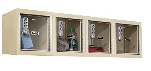 48 W x 18 D x 14.75 H in. DigiTech Safety-View Plus Locker - Parchment - HALLOWELL UESVP1482-4WMAPT