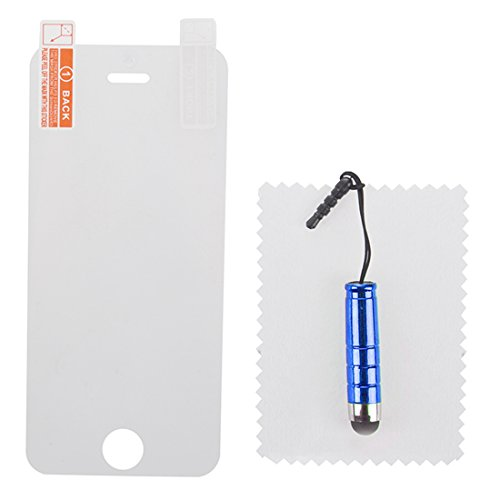 iPhone 5/ 5S TPU Case - SODIAL(R)Ultraduenne Transparente Harte TPU Abdeckung mit Kristall fuer iPhone 5/ 5S Blau