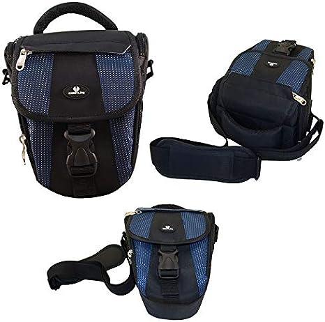 Case4Life Negro/Azul Funda Bolsa para cámaras réflex para Nikon ...