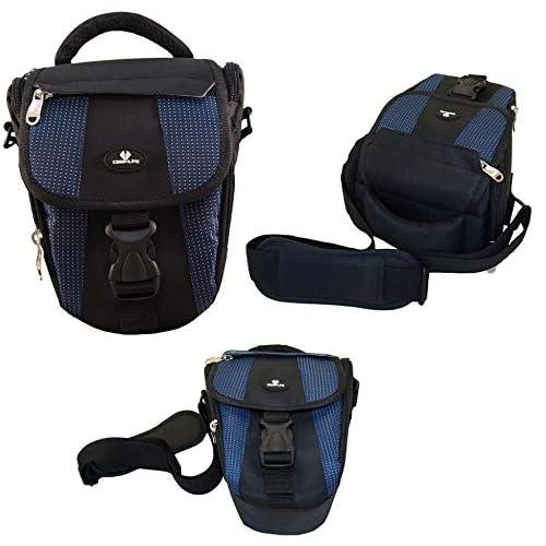 Case4Life Black/Blue Digital SLR Camera Case Holster Bag for Canon EOS 2000D 200D 4000D 1300D, 1200D, 100D, 1100D, 80D, 700D, 750D, 760D, 70D, 600D, 500D, 5D, 5DS, 400D, 6D, 650D, 1000D, M3, M5