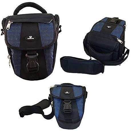 Case4Life Negro/Azul Funda Bolsa para cámaras réflex para Nikon SLR D Serie - D3100, D3200, D3300, D3400, D4, D40, D5, D500, D5100, D5200, D5300, ...