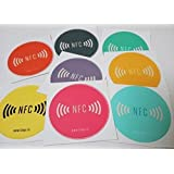 LINQS NFC Tag Sticker (Set of 5) | Smartrac Circus NTAG213 chip | for All Phones | Vinyl face 30mm