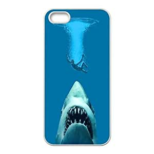iPhone 5 5s phone case White Jaws POIU8950496