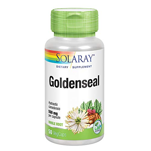 Solaray Goldenseal Root Capsules, 550 mg, 50 Count (Goldenseal Root 90 Capsules)