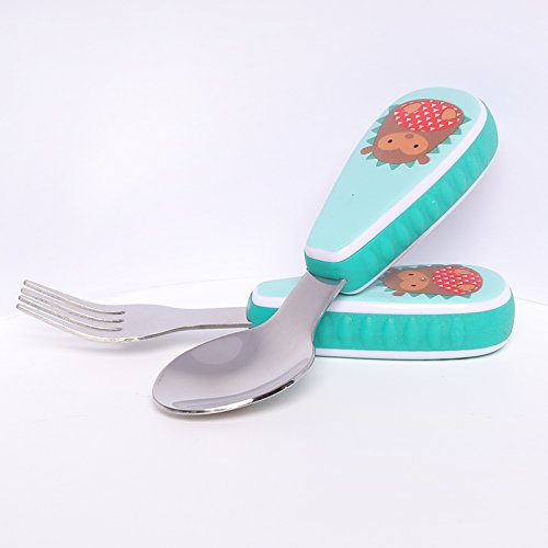 Xing Lin Children'S Tableware Set Children Thickened Stainless Steel Spoon Fork Cute Baby Tableware For Baby Spoon Fork Suit,Hedgehog]()